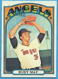 1972 Topps Baseball Cards      656     Rudy May